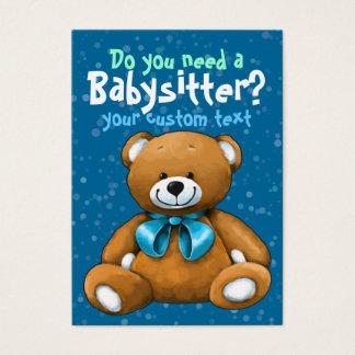 Bleu de garde d'enfants de Childcare de garde de Cartes De Visite
