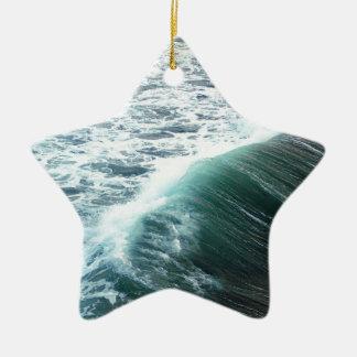 Bleu de l'océan pacifique ornement étoile en céramique