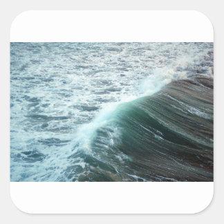 Bleu de l'océan pacifique sticker carré