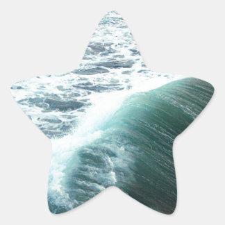 Bleu de l'océan pacifique sticker étoile