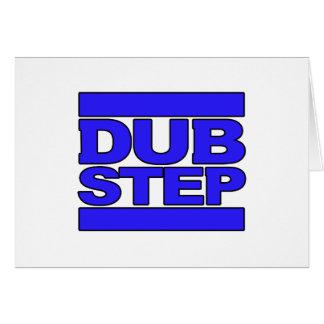 Bleu de logo de DUBSTEP Carte De Vœux