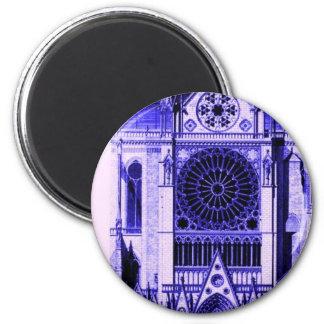 bleu de lt de Notre Dame Magnet Rond 8 Cm