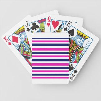 Bleu de luxe de rose de rayures jeu de cartes