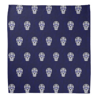 bleu de motif de crâne bandanas