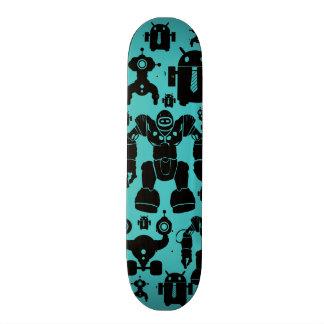 Bleu de motif de silhouettes de robot d'amusement  skateboard 20,6 cm
