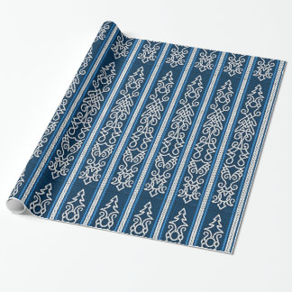 Bleu de motif de Viking Papier Cadeau