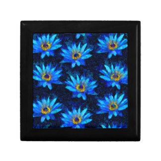 bleu de nénuphar de Van Gogh Boîte À Souvenirs