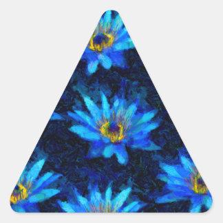 bleu de nénuphar de Van Gogh Sticker Triangulaire
