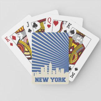 Bleu de New York City Jeu De Cartes