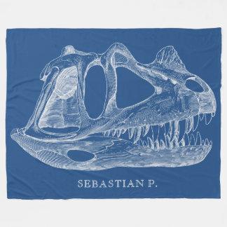 Bleu de paléontologie d'os de dinosaure de couverture polaire