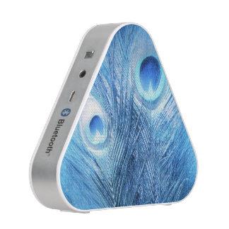 Bleu de paon haut-parleur bluetooth