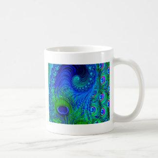 Bleu de paon mug