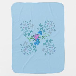 Bleu de papillon couverture de bébé