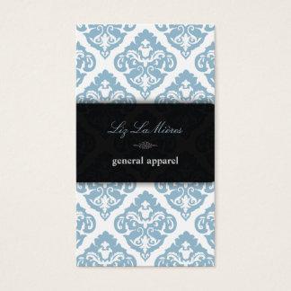 Bleu de PixDezines + Damassé blanche d'Olivia Cartes De Visite