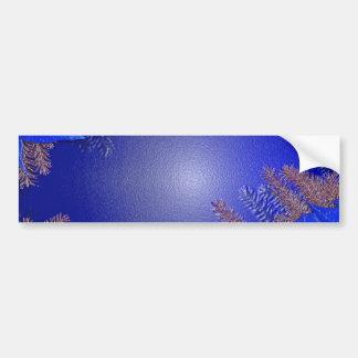 Bleu de poinsettia de Noël Adhésif Pour Voiture