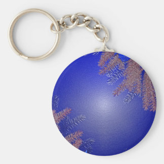 Bleu de poinsettia de Noël Porte-clé