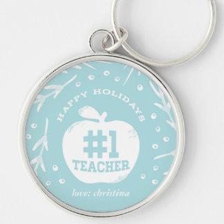 Bleu de porte - clé de professeur de vacances porte-clés