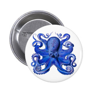 Bleu de poulpe de Haeckel Badge