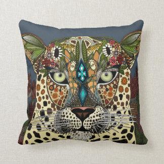 bleu de reine de léopard oreiller