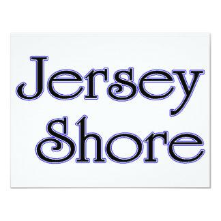 Bleu de rivage du Jersey Carton D'invitation 10,79 Cm X 13,97 Cm