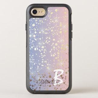 Bleu de sérénité de quartz rose d'étincelle coque otterbox symmetry pour iPhone 7