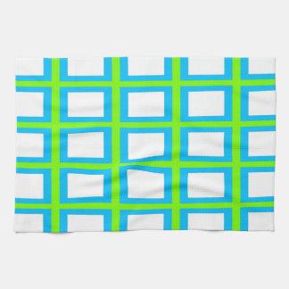 Bleu de serviette - blanc/profondément de serviette éponge