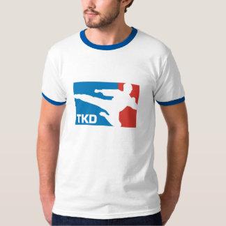 Bleu de sonnerie du Taekwondo T-shirts