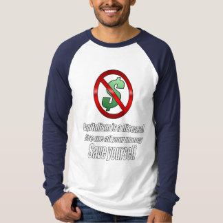 Bleu de sport de capitalisme t-shirts