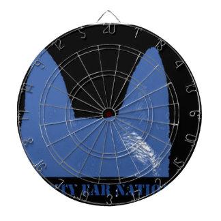 Bleu de STYLO sur le noir Jeux De Fléchettes