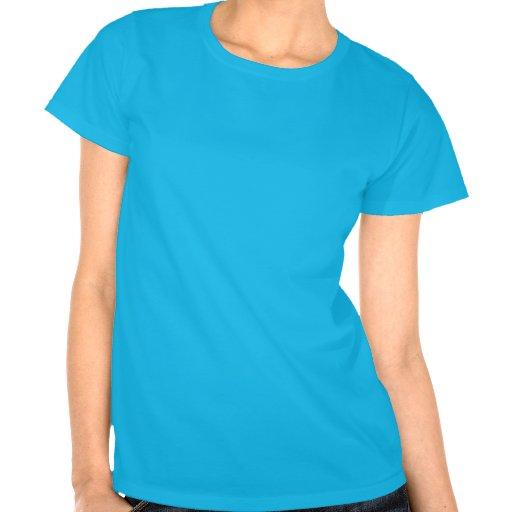 Bleu de T-shirt de RealistBoss de la femme
