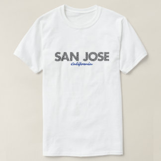 BLEU de T-shirt de San Jose la Californie