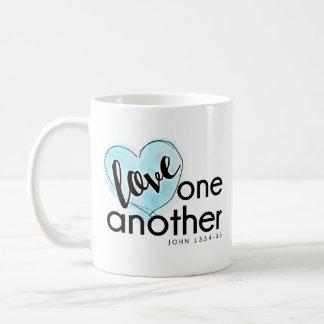 Bleu de tasse de café de l'amour de Dieu