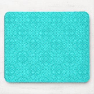 Bleu de Tiffany et cercles de verrouillage de Tapis De Souris
