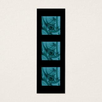 Bleu de turquoise et conception d'art de fractale mini carte de visite