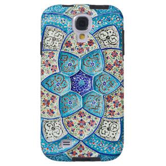 Bleu de turquoise marocain traditionnel, blanc, coque galaxy s4