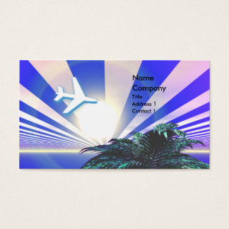 Bleu de voyage d'île - affaires cartes de visite