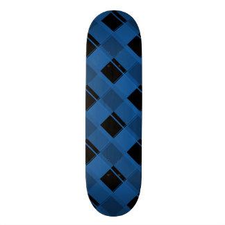 Bleu d'éblouissement du plaid 3 plateau de skate
