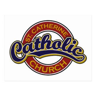 Bleu d'église catholique de St Catherine sur le ro Cartes Postales