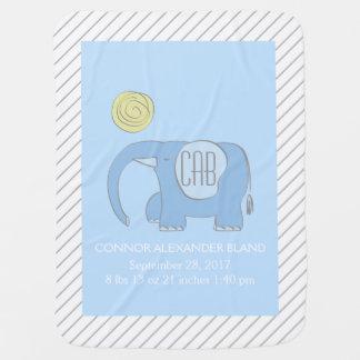 Bleu d'Eli la couverture de bébé d'éléphant