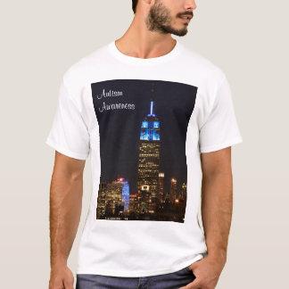 Bleu d'Empire State Building pour l'autisme 2012 T-shirt