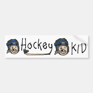 Bleu d'enfant d'hockey autocollant de voiture