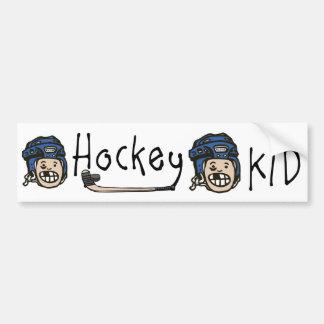 Bleu d'enfant d'hockey autocollant pour voiture