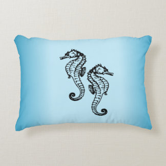 Bleu d'hippocampe coussins décoratifs