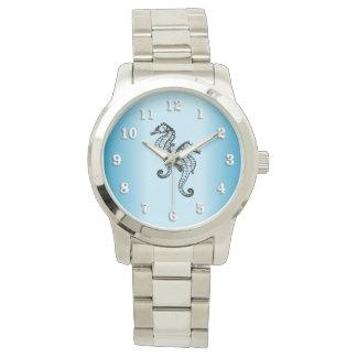 Bleu d'hippocampe montres bracelet