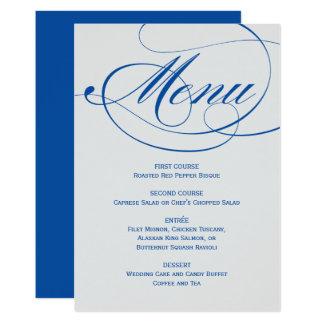 Bleu d'orchidée de la carte | de menu de manuscrit