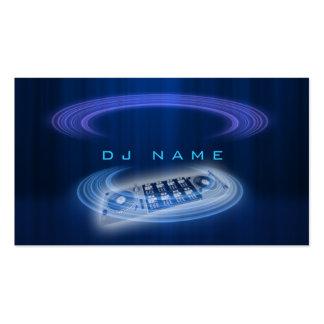 Bleu du DJ Carte De Visite Standard