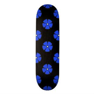 Bleu du motif de fleur 2 skateboards personnalisés
