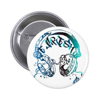 BLEU E-Frais de bouton du DJ Badges Avec Agrafe