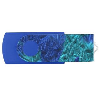 Bleu élégant clé USB 2.0 swivel