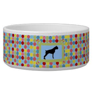 Bleu élégant de bol d'aliments pour chiens de boxe écuelles pour chien